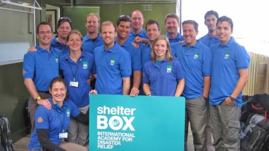 Shelter Box volunteers