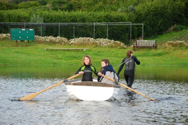 Rowing on St. Martin's cricket pitch