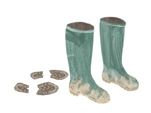 Brown-Wellies