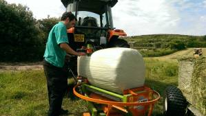 Small bales are better for us at the farm as the cattle only need it as supplementary feed.